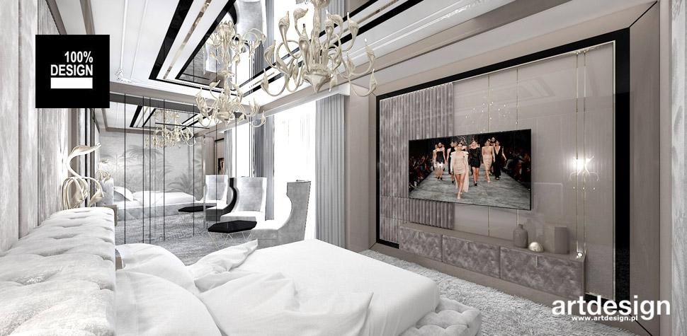 sypialnia styl glamour wnetrza