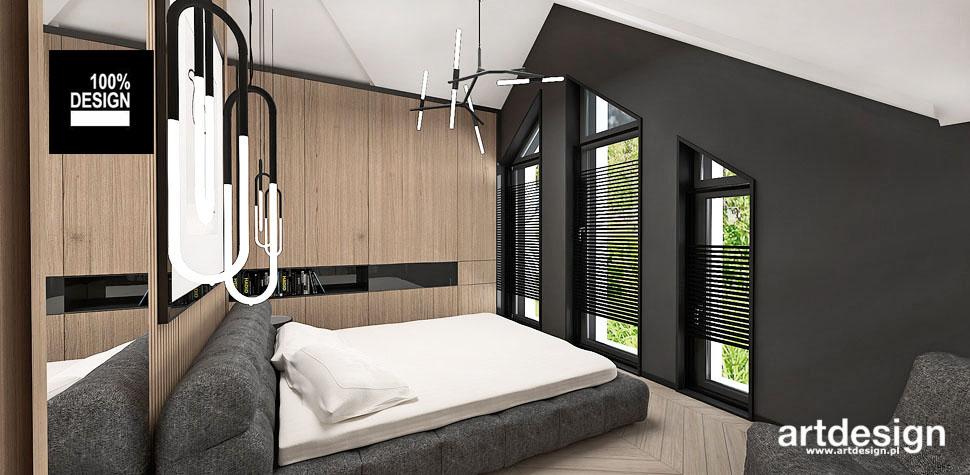 oryginalne wnętrze aranżacja sypialni