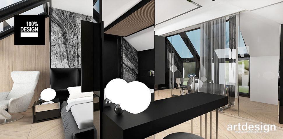 sypialnia na poddaszu projekt