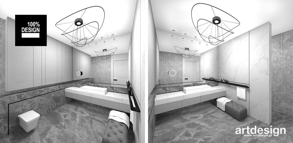 elegancka łazienka szarości