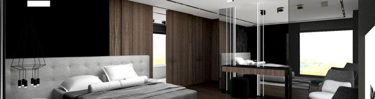 projekt sypialni w stylu nowoczesnym