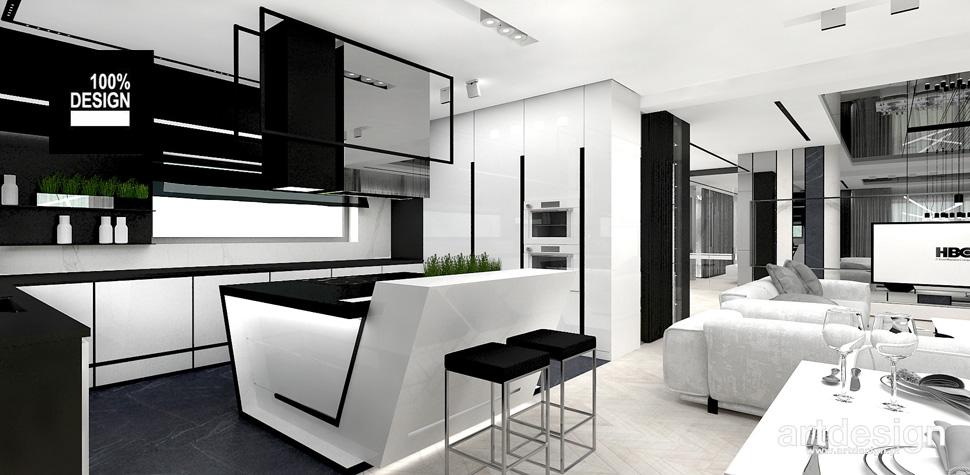 nowoczesna kuchnia projekt wnętrza