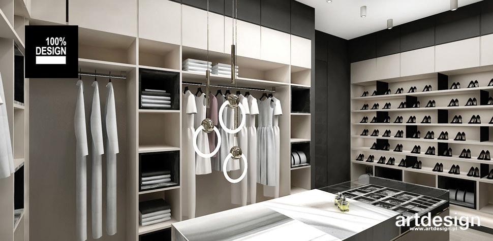 projekt garderoby inspiracje