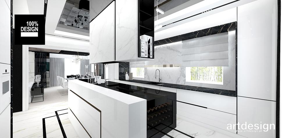 biała kuchnia wnętrza projekt