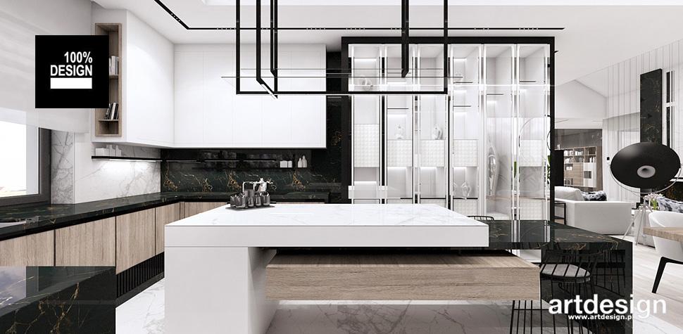 kuchnia drewno biel projekty