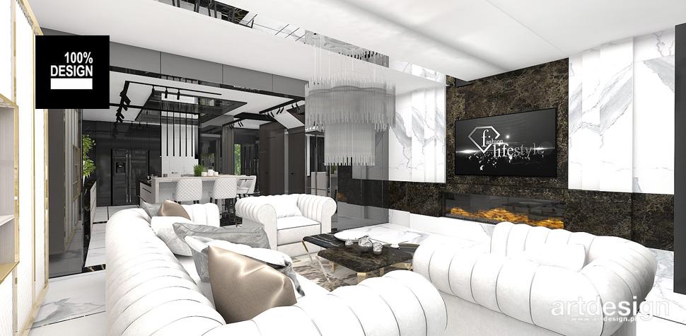 projekt salonu aranżacja