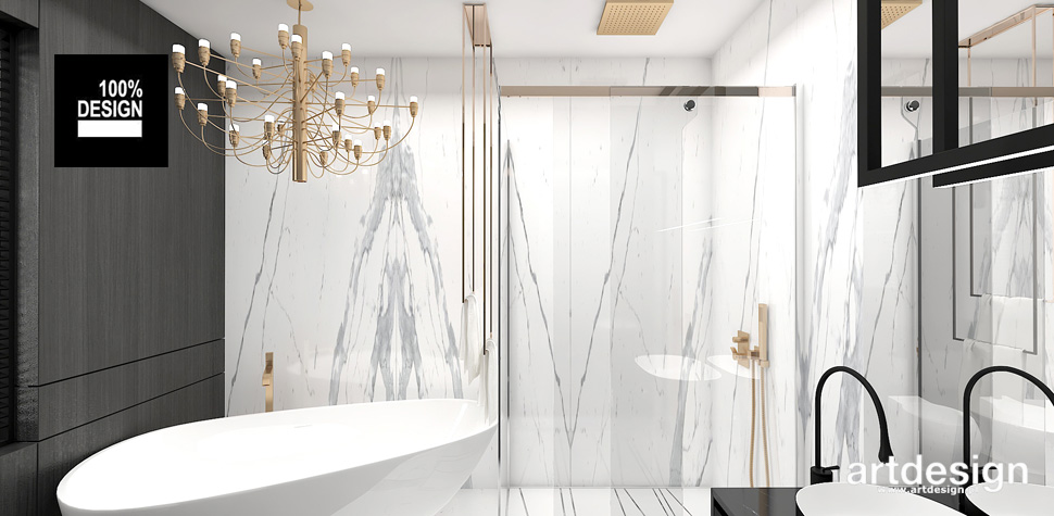 eleganckie wnętrza projekty łazienka