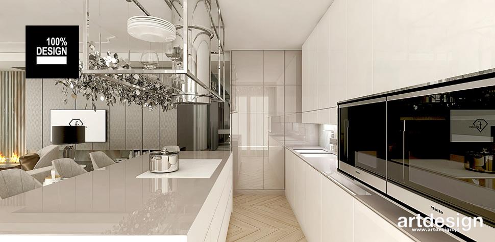 przestronne wnętrze kuchni aranżacje