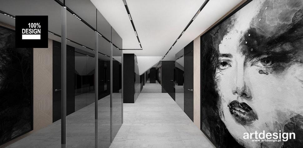 czarno-białe wnętrze domu