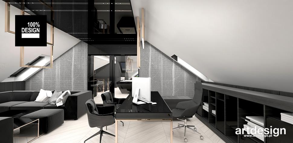 pokój biurowy na poddaszu