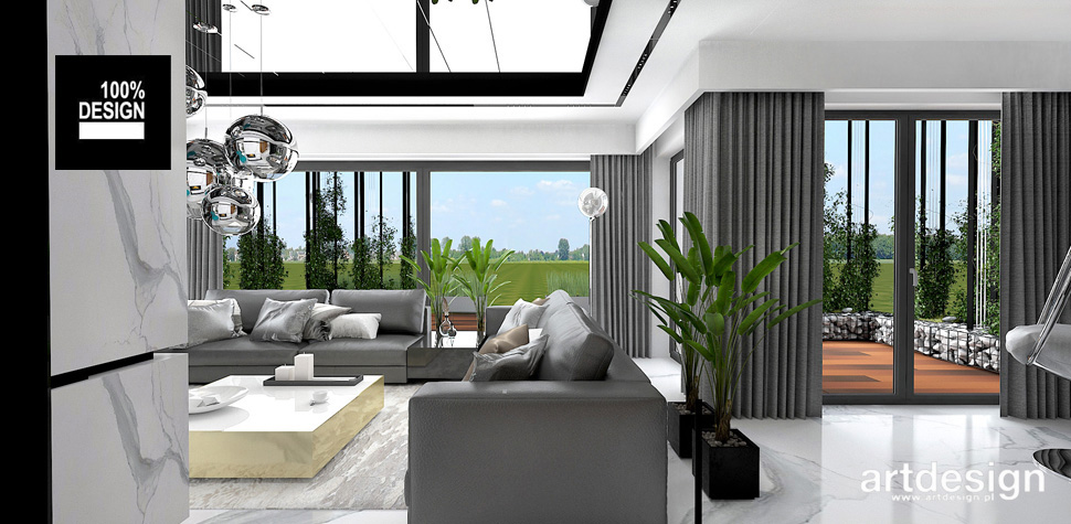 kompleksowy projekt wnętrz domu wizualizacje