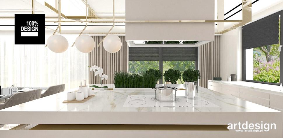 jasna kuchnia projekt wnętrza
