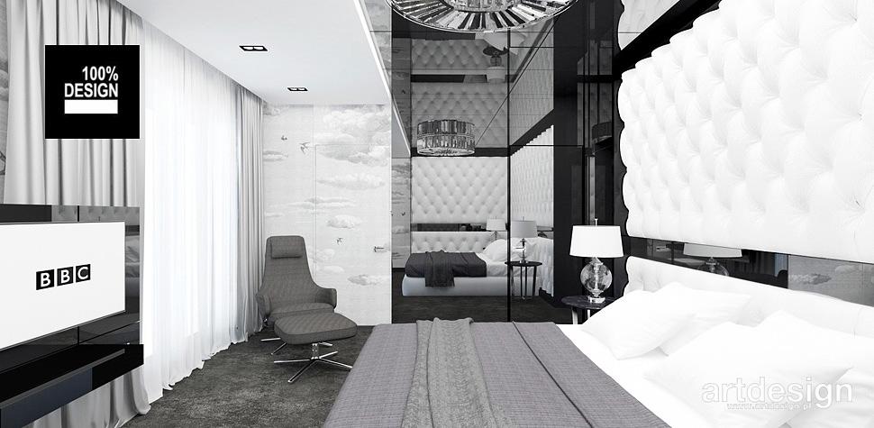 projekt sypialni design wnętrz