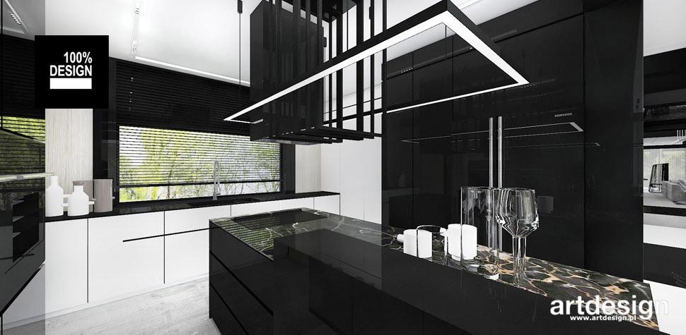 czarna kuchnia aranżacja wnętrza