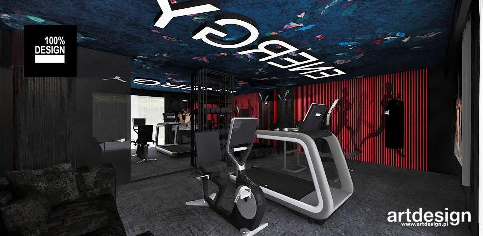 projekty wnętrz siłownia fitness