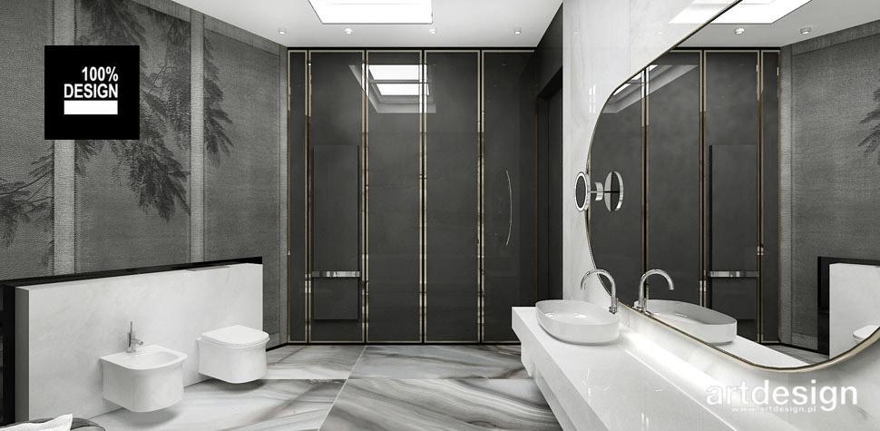 projekt przestronnej łazienki