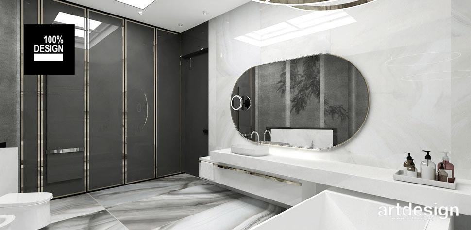 biało szara łazienka wnetrza