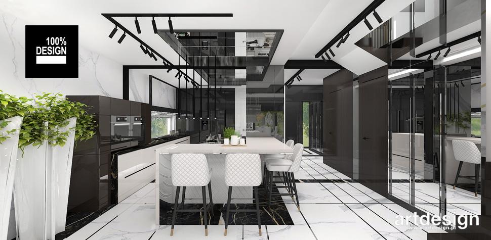 projekt czarna kuchnia wnętrza