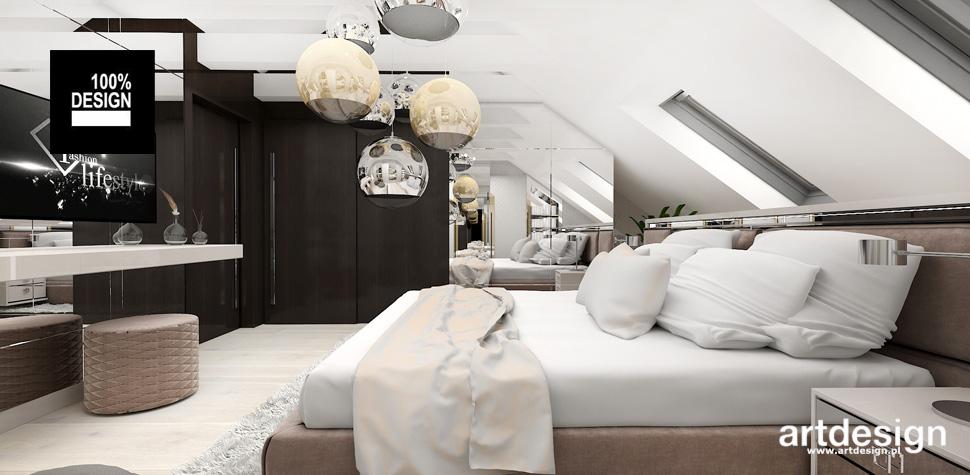 sypialnia w ciepłych kolorach