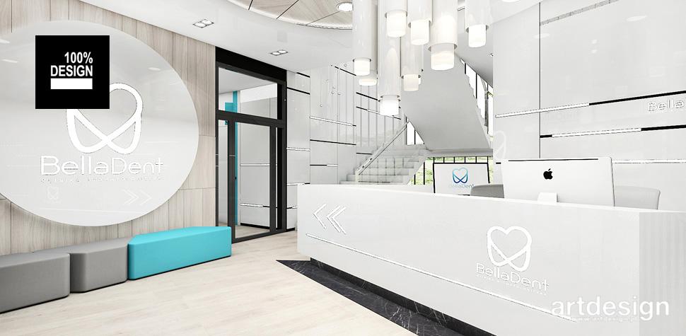 projektowanie wnętrz recepcja klinika