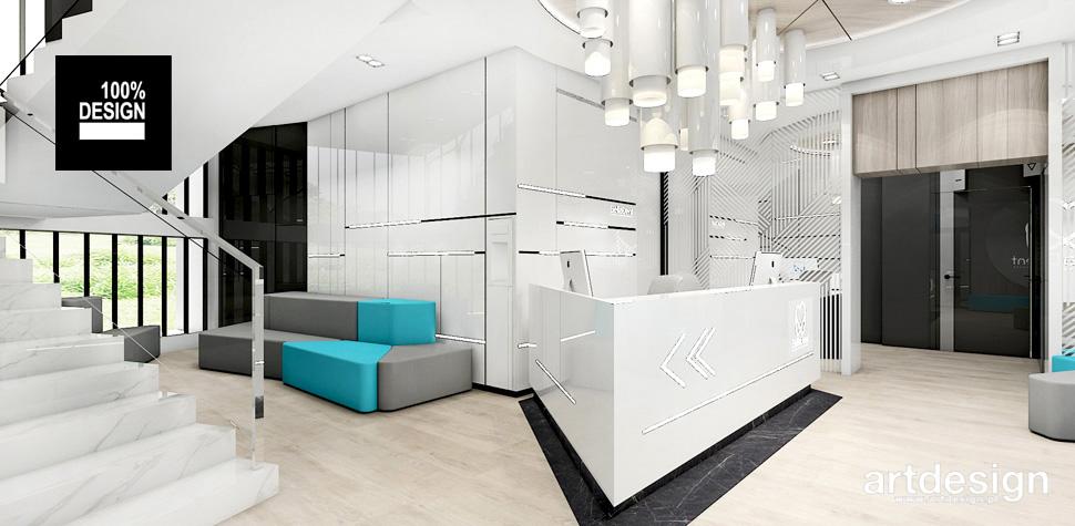 wnętrze kliniki recepcja
