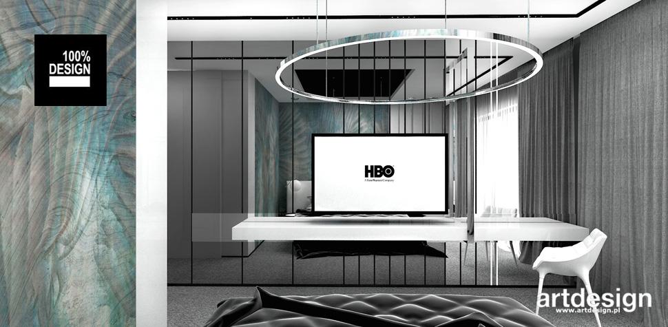 nowoczesny design wnętrze sypialni