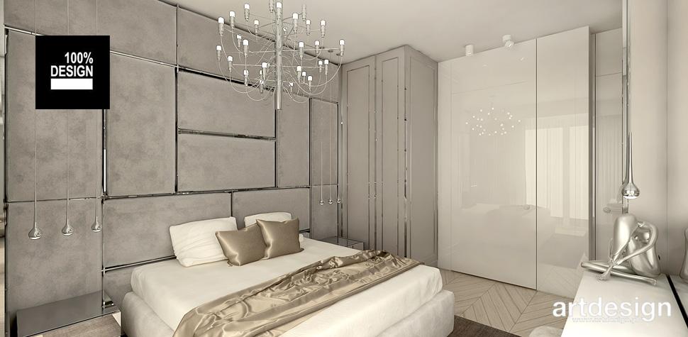 elegancka sypialnia biel złoto