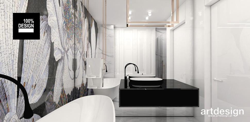 mozaika na ścianie łazienka