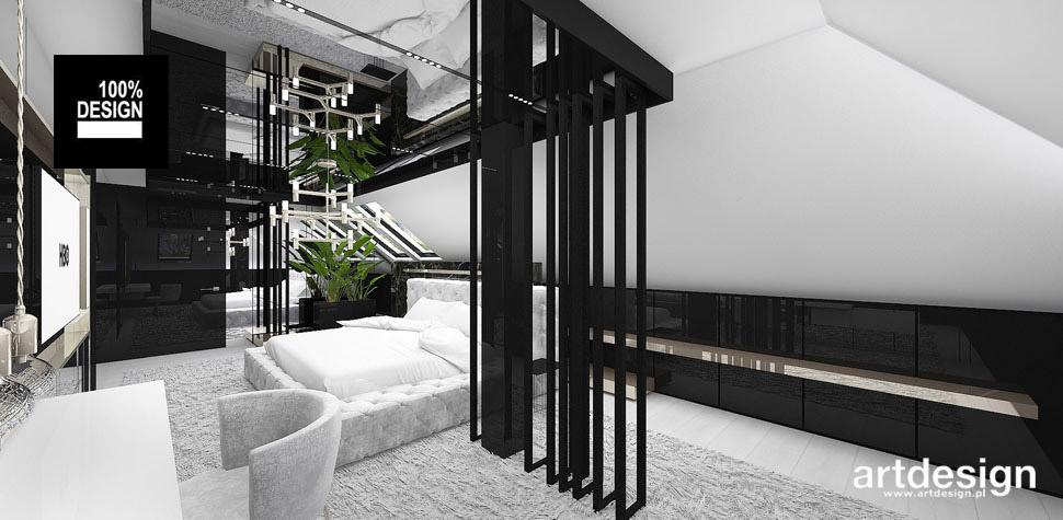 architektura wnętrz domu sypialnia