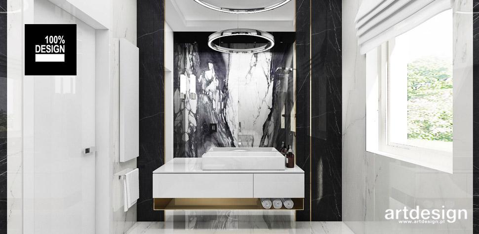 nowoczesna łazienka biel czerń