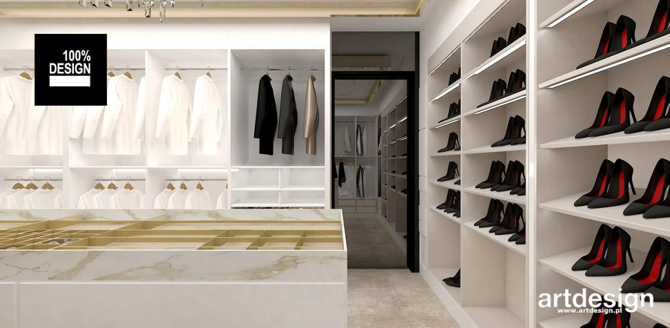 projekt garderoby wizualizacje wnętrz