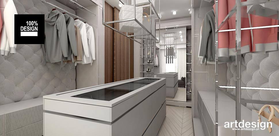 przestronna garderoba w domu