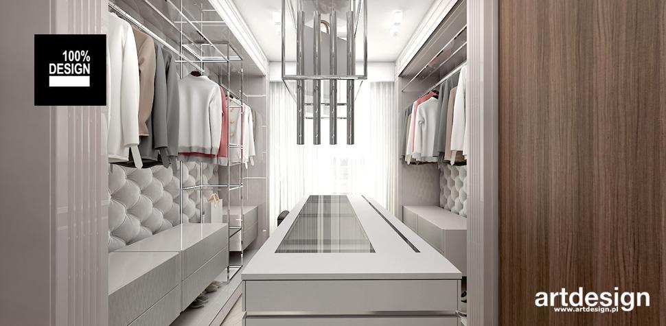 zaaranżowanie przestrzeni garderoba