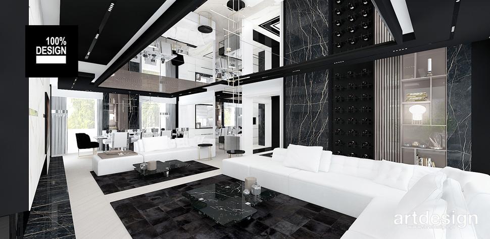 wnętrza luksusowego domu projekt