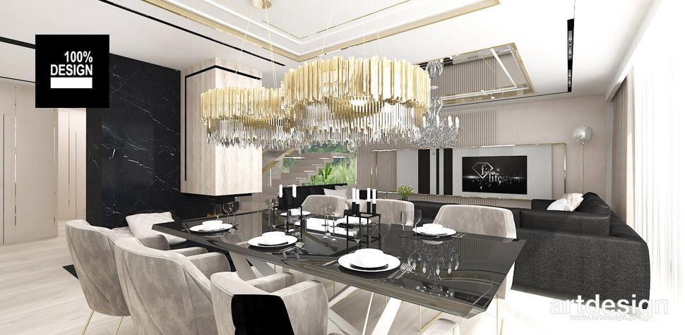 projekt wnętrz salon z jadalnią