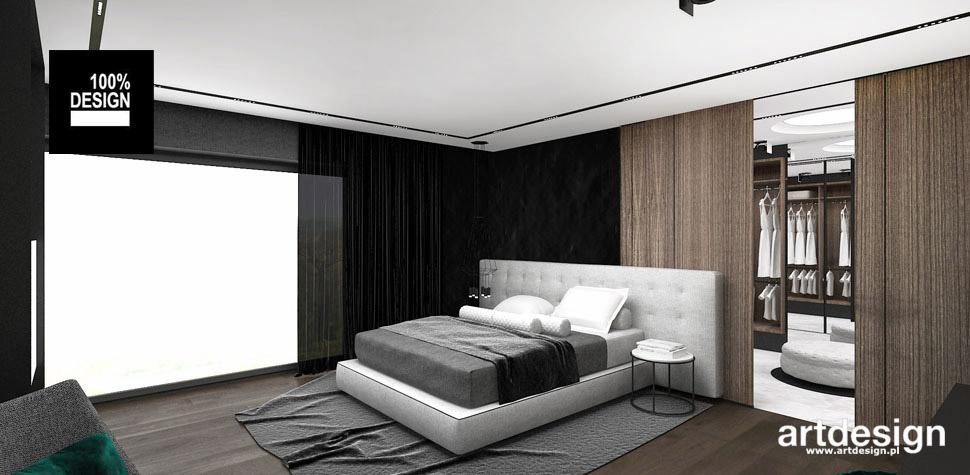 sypialnia z garderoba projekt