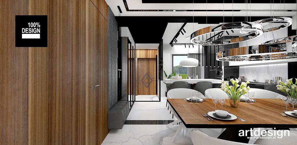 wnętrze domu drewno fornir