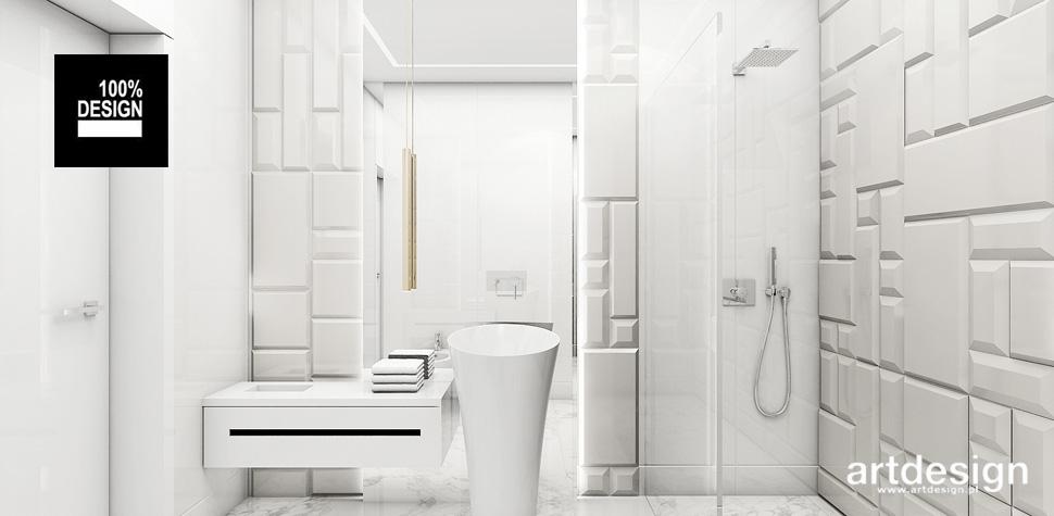 przestronne wnętrze biała łazienka