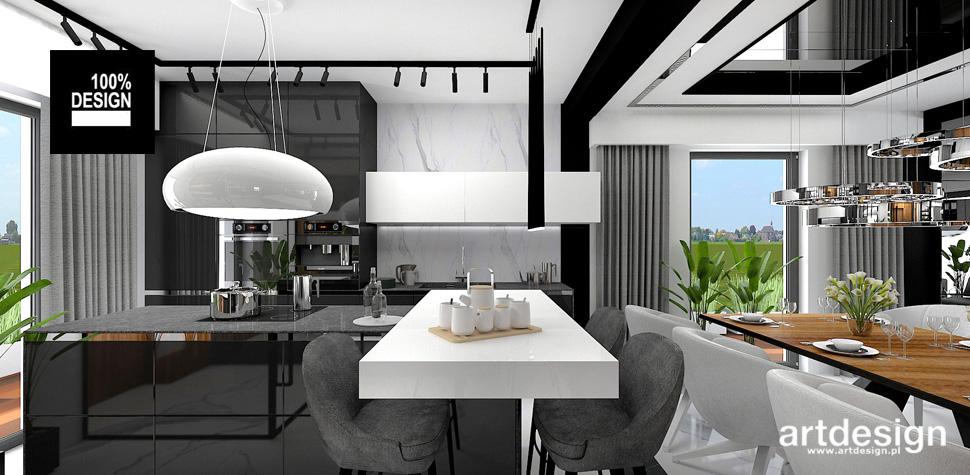 nowoczesny design kuchnia jadalnia