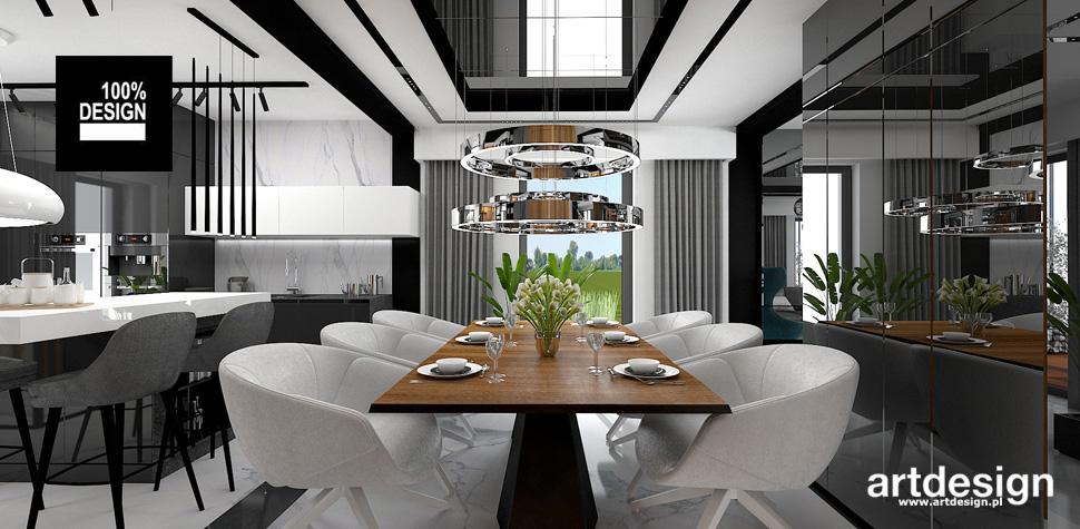 projekt jadalni wnętrze nowoczesne