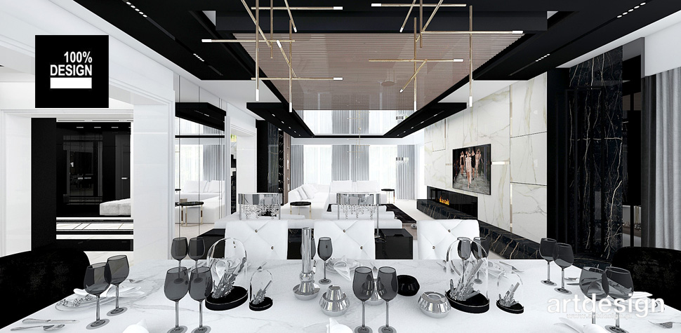 salon z jadalnią design wnętrza
