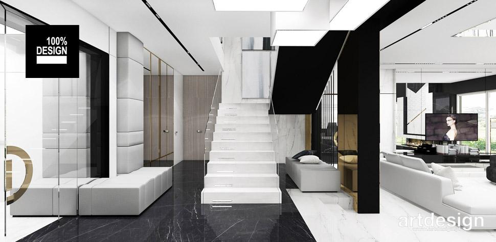 aranżacja białe schody