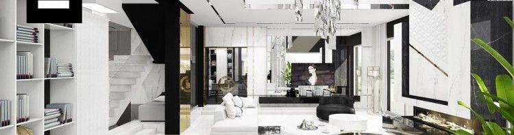przestronny luksusowy salon