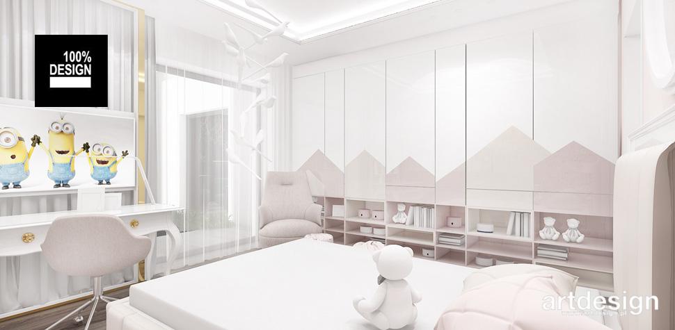 delikatne wnętrze pokoju dla dziecka