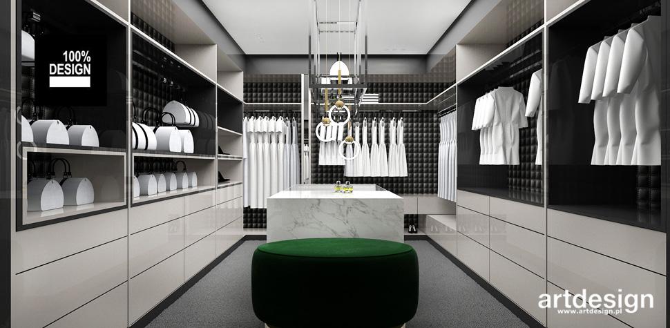 luksusowy dom wnętrza garderoba