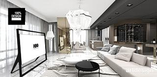 projekt wnetrz apartamentu