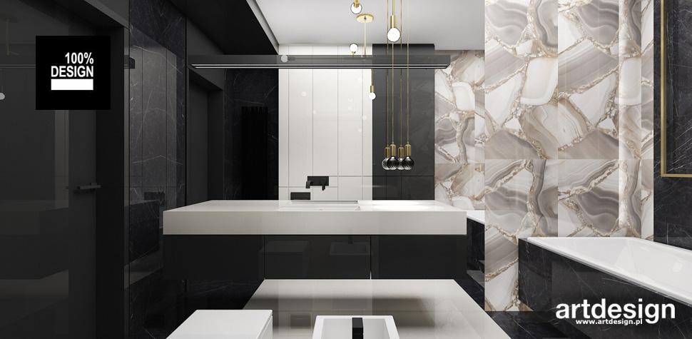 elegancka łazienka projekt wnętrze