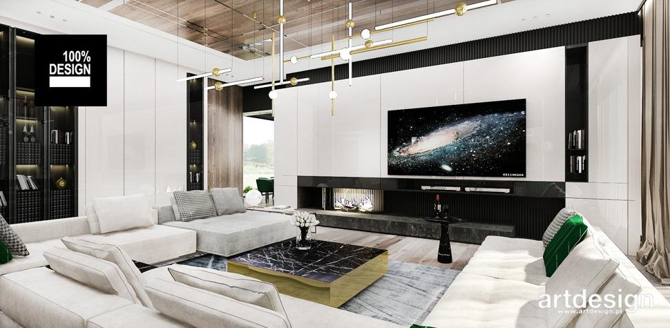 nowoczesny salon projekt wnętrze