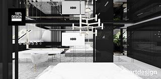 czarno biala sypialnia