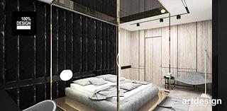 sypialnia drewno czern projekt